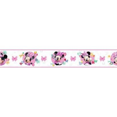 - York Wallcoverings Kids III Disney Minnie Mouse Border, Whites