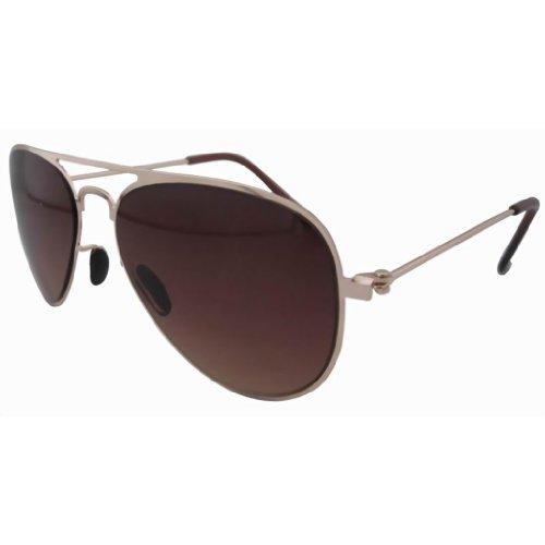 Eyekepper Stainless Steeel Frame Gradual Brown Lens Pilot Kids Children Sunglasses - Aviator Sunglasses Kid