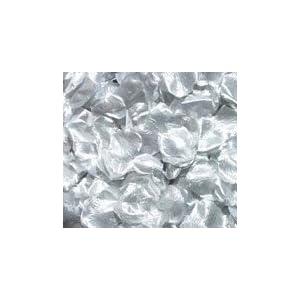 Silk Rose Petals - SILVER - 200 petals per bag 75