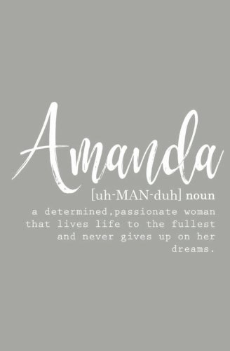 (Amanda: Personalized Journal Notebook for Women (Custom Name Journal, Personalized Gift, Blank Journal))