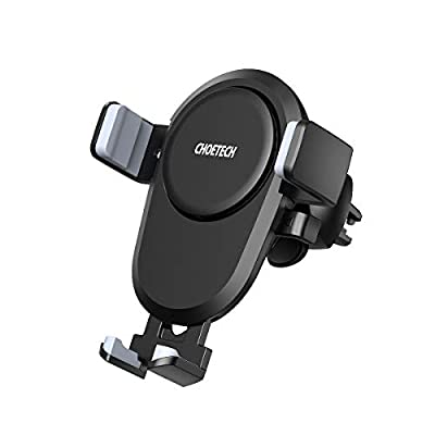 CHOETECH Wireless Car Charger, 7.5W/10W Fast Charging Qi Automatic Air Vent Mount Phone Holder Compatible iPhone Xs Max/XS/XR/X/8/8 Plus, Samsung Galaxy S10e/S10/S10 Plus/S9/S9+/Note 9/Note 8