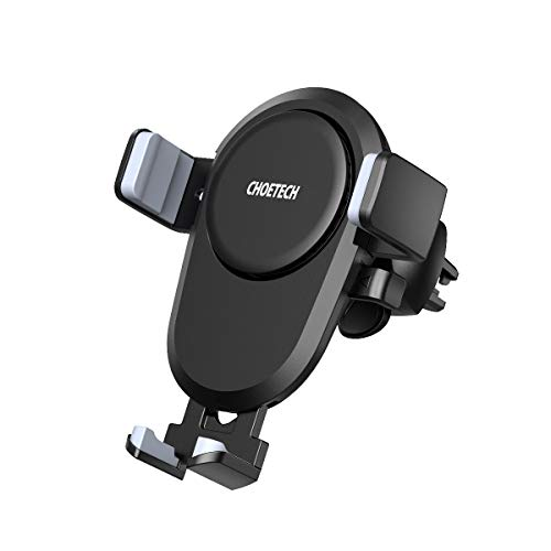 CHOETECH Wireless Car Charger, 7.5W 10W Fast Charging Qi Automatic Air Vent Mount Phone Holder Compatible with iPhone 11 11 Pro 11 Pro Max Xs Max XS XR X 8 8 Plus, Samsung Note 10 S10 S9 Note 8