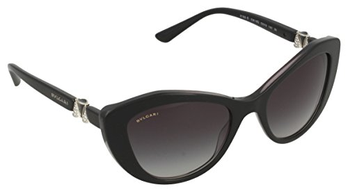 Bvlgari BV8168B 53818G Black BV8168B Cats Eyes Sunglasses Lens Category 3 - Bvlgari Eye Cat Sunglasses