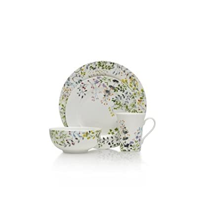 Mikasa Tivoli Garden 16 Pc Dinnerware Set Service for 4 Casual and Stylish Microwave  sc 1 st  Amazon.com & Amazon.com | Mikasa Tivoli Garden 16 Pc Dinnerware Set Service for 4 ...