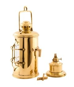 Nautical Lamps - Brass Masthead Lantern - 10.5'' - Oil Lantern by Vermont Lanterns