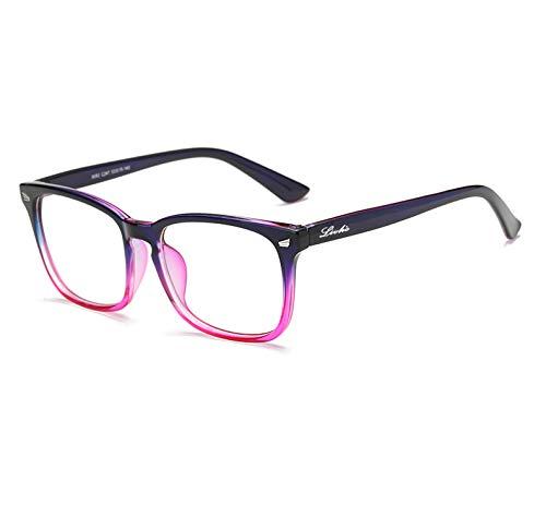 Livhò Blue Light Blocking Computer Glasses,Tablet/Gaming/TV/Phones Glasses for Women Men,Anti Eyestrain Filter UV Glare & Reduce Headache Eyewear Fake Glasses LI8056-0.0 Magnification