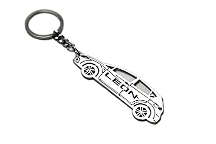 Amazon.com : Keychain With Ring For Seat Leon II Steel Key ...