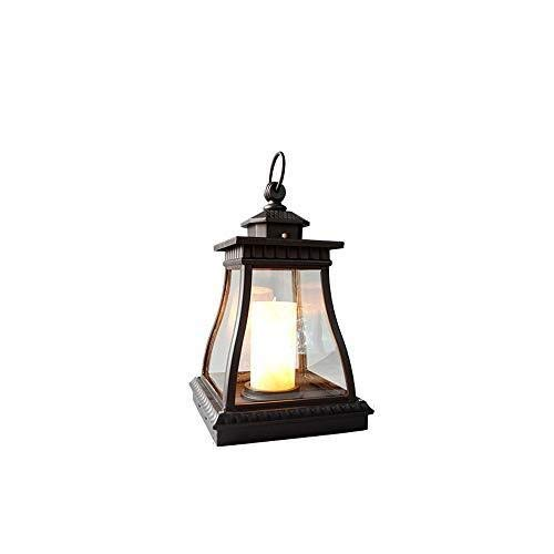 BYDXZ Courtyard Candle Lantern Lampara de pie impermeable al aire libre Villa Decoracion antigua Lampara de huracan for Courtyard View Villa Garden Pool Pillar Post Lights Lampara de columna pequena t