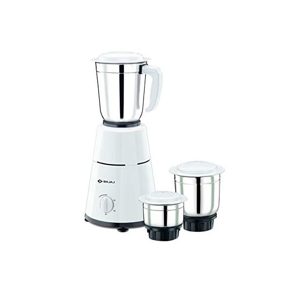 Bajaj 500 Watt GX-1 Mixer Grinder with 3 Jars- white