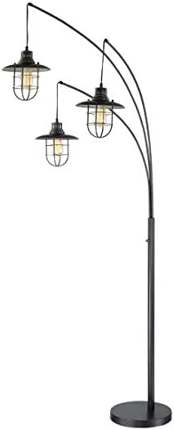 Lite Source Lanterna II Dark Bronze 3-Light Arc Floor Lamp