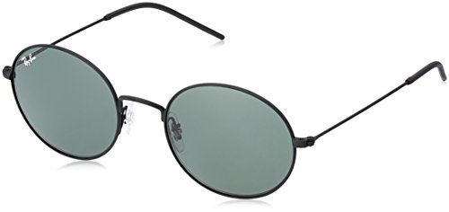 Ray-Ban RB3594 Beat Oval Sunglasses, Rubber Black/Green, 53 ()