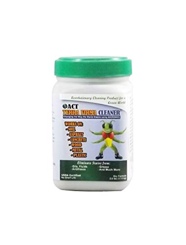 - ACT Terra Firma Industrial Spills Microbial Oil Spill Cleaner - Environmentally Safe and Non Toxic - EPA Tested and USDA Certified - Easily Remove Contaminants from Soil, Water, Roadways