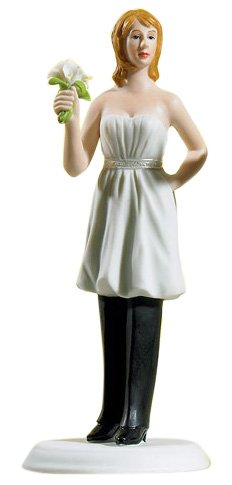 """Bride """"In Charge"""" Wearing Pants Cake Topper"""