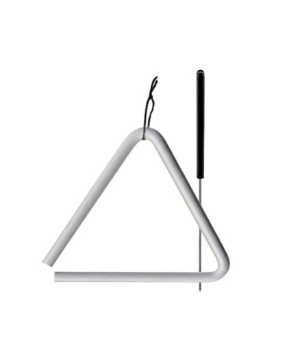 TreeWorks Chimes TRE03-6 6 High Carbon Steel Triangle with 1/2 Diameter and Triangle Beater by TreeWorks Chimes