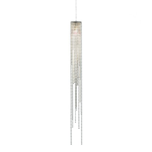 Nova Lighting 6341 Bead 1-Light Pendant, Brushed Nickel with Bead Chain Shade