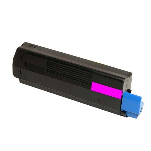 (HI-VISION HI-YIELDS Compatible Toner Cartridge Replacement for Okidata C5100 C5100n (Magenta, 1-Pack))