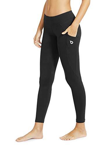 5bb1403e5490d Baleaf Women's Yoga Workout Leggings Side Pocket for 5.5