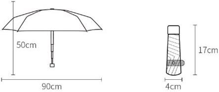 Color : Black, Size : Five fold Qeeuanl Creative Light Luxury Camellia Sun Umbrella Sunshade Female Sun Protection UV Ultra Light Compact Portable Folding Umbrella