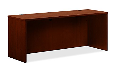HON BL Laminate Series Credenza Shell - Desk Shell for Office,  72w x 24d x 29h, Medium Cherry (HBL2121) - Dmi Furniture Office Hutch