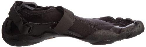 Negro Mujer Five Para Vibram Cuero Fingers De Zapatillas Deporte Rw8qB6