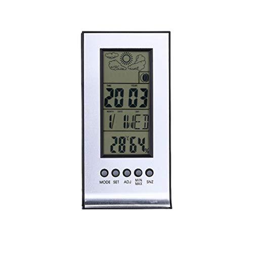 SX Estación meteorológica inalámbrica higrómetro, termómetro electrónico multifunción e higrómetro
