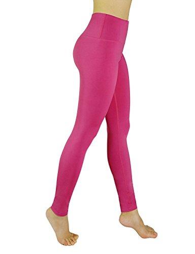 - REETOYO Women's High Waisted Power Flex Yoga Pants Tummy Control Workout Running Leggings, Fuchsia, XX-Large