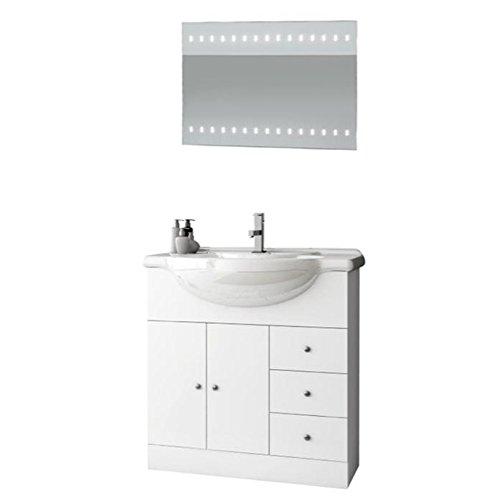 ACF LON12-637509939595 London Collection Vanity Set, Glossy White