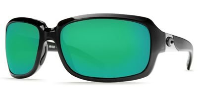 Costa Del Mar Sunglasses - Isabela- Glass / Frame: Shiny Black Lens: Polarized Green Mirror Wave 400 - Sunglasses Costa Isabela