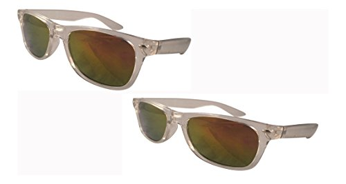 Ultra 2 Pack of Classic in Style Adults Sunglasses Black or Clear Frame W/ lens choice UV400 Sunglasses - Glasses Polorised