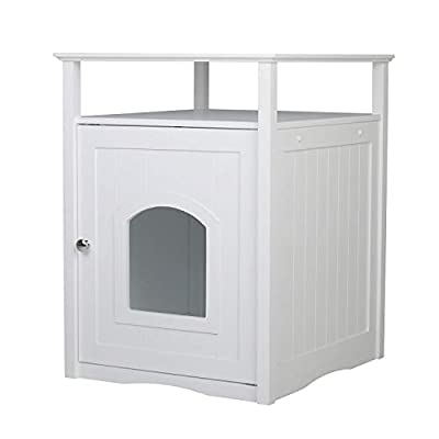 Cat Box Merry Pet Cat Washroom/Night Stand Pet House – Hidden Litter Box Furniture