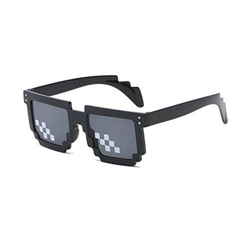 Minecraft plus avec vendre Hot polygonalen style hommes Pixel les paire 2018 femmes lunettes avec 8 0114 bits size Thug Life JY Sonnenbrille de de MinegRong Pad nez On6xaa