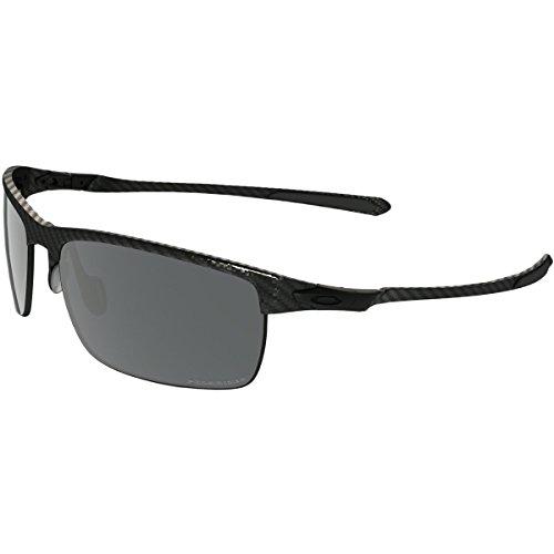 Blade Rectangular Eyeglasses,Carbon Fiber,Black Iridium Polarized, 66 mm ()