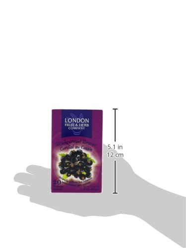 London Fruit & Herb Company Black Currant Bracer Tea, 20 Count 5 20 Count London fruit & herb company Black currant bracer tea