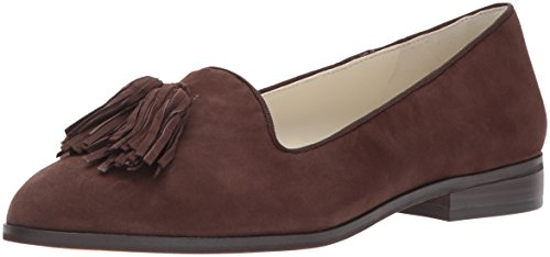 Sport Brown Flat Shoe (Anne Klein AK Sport Women's Devina Suede Loafer Flat, Dark Brown, 8.5 M US)