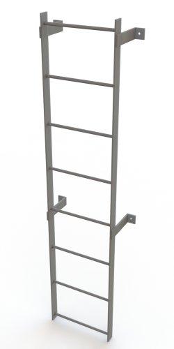 Tri-Arc WLFS0108 8-Rung Standard Uncaged Fixed Steel Ladder