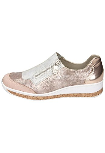 ... Rieker Kvinner Slipper To / Flerfarget Rose 942167-0 / Rosa / Is /  Bronse ...