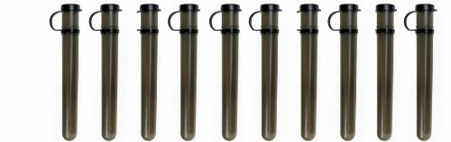 Empire 10 Round Tube with Tethered Speed Cap - Smoke - 10 Pack