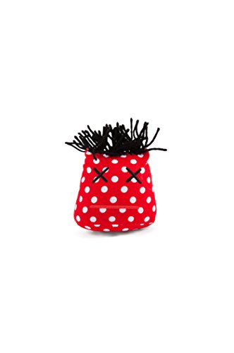 Dammit Doll - Stress Head - Mlle Epuisés - Red and White Polka Dot, Black Hair - Stress Relief - Gag -