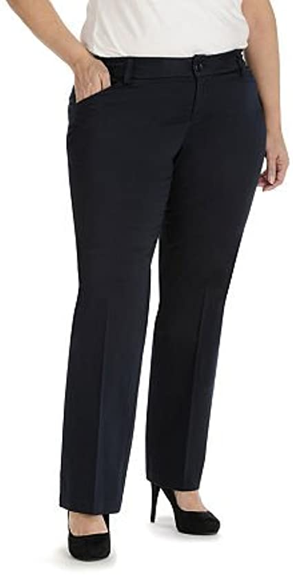 LEE Womens Plus Size Modern Series Maxwell Curvy Fit Trouser