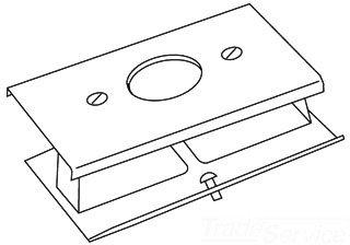 Recept Plate - Wiremold V3027Ae Sgl Recept Plate