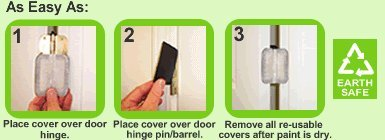 9 Residential Size Magnetic Door Hinge Covers for 3 1/2'' round corner door hinge
