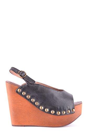 Jeffrey Campbell Women's MCBI163039O Black Leather Sandals