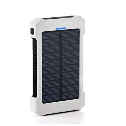 official photos 240b5 58518 Waterproof 300000mAh Dual USB Portable Solar Battery Charger Solar Power  Bank KB