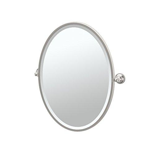 (Gatco 4339F Tiara Framed Oval Mirror, Satin Nickel)