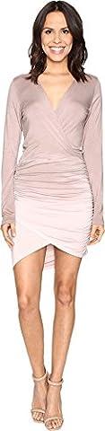 Young Fabulous & Broke Women's Lex Dress Mocha Ombre Dress - Matte Jersey Surplice