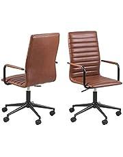 AC Design Furniture Winifred kontorsstol, B: 45 x D: 58 x H: 103 cm, PU, cognac, 1 pcs