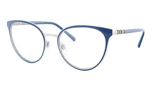 Burberry Cat Eye Sunglasses - Burberry Women's BE1324 Eyeglasses Turquoise/Silver