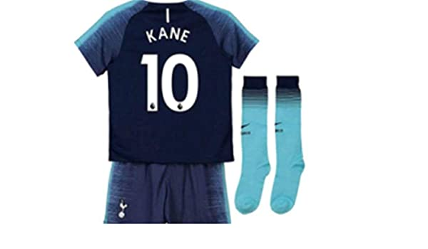 c894cc6d1 Amazon.com  LISIMKE Tottenham Hotspur Team Away Soccer 2018 19 Soccer Kane  10  Kid Youth Replica Jersey Kit   Jersey   Shorts   Socks  Clothing