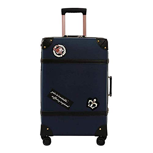 学生用トロリーケースイギリスのキャンパススタイルのジッパースーツケースTSAロック大容量28インチ(FM),Blue,26inches B07SRXYT9P Blue 26inches