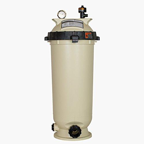 Pentair 160316 Clean & Clear Fiberglass Reinforced Polypropylene Tank Cartridge Pool Filter, 100 Square Feet, 100 GPM ()